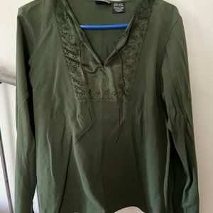 Cute Dark Green Shirt